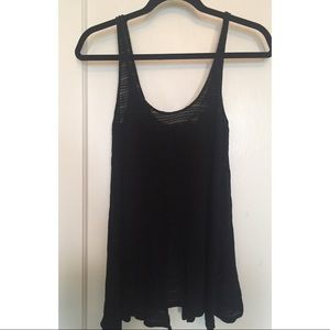 Zara Black Tank with Back Detail